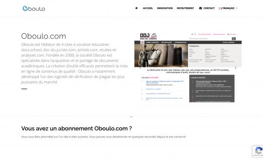 Oboulo International needed a one page website